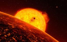 壁紙のプレビュー 太陽系外惑星スター