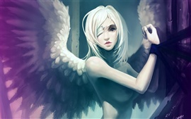 Girl art angel wings