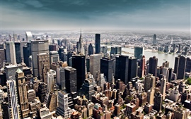 Preview wallpaper New York City tilt shift photography