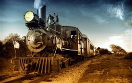 Aperçu fond d'écran Train à vapeur nostalgique