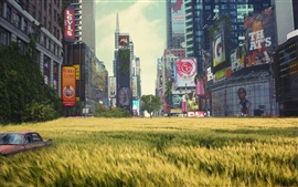Preview wallpaper The lush grass of Times Square