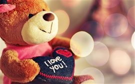 Toy teddy bear heart