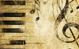 Notação musical maravilhoso de piano