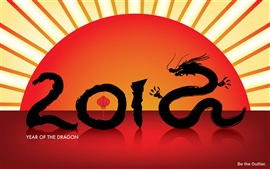 Preview wallpaper Year of the Dragon 2012