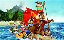 Preview wallpaper Alvin and The Chipmunks 3 HD