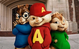 Preview wallpaper Alvin and the Chipmunks movie wide
