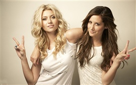 Preview wallpaper Alyson Michalka and Ashley Tisdale
