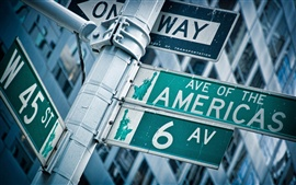 Preview wallpaper America's roads pointer