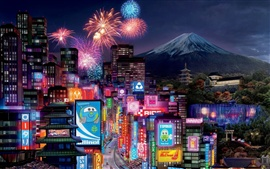 Preview wallpaper Cars 2 Tokyo City