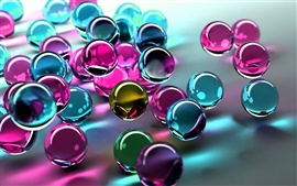 Colored glass balls