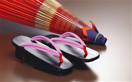 Preview wallpaper Japanese culture shoes and umbrella