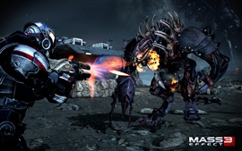 Preview wallpaper Mass Effect 3 fighting