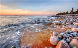 Preview wallpaper The seashore rocks
