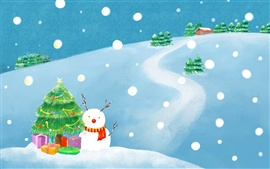 Preview wallpaper Winter Christmas exquisite paintings
