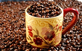 Preview wallpaper A cup of full of coffee beans