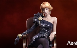 Preview wallpaper AION chair blond girl