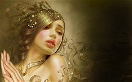 Preview wallpaper Beautiful girl fantasy