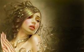 Красивая девушка фантазии