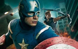 Preview wallpaper Captain America in The Avengers HD