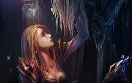 Фантазия слезы девушка кристалл