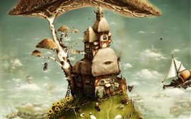 Tree house art fantasy