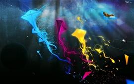 Resumen colorido cometa