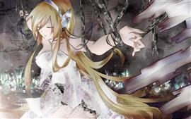 Aperçu fond d'écran Anime girl verrouillé dans les chaînes