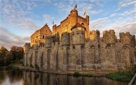 Preview wallpaper Belgium castle moat
