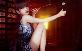 Preview wallpaper Cigarette Girl Art
