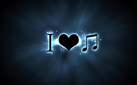 Preview wallpaper Creative I love music