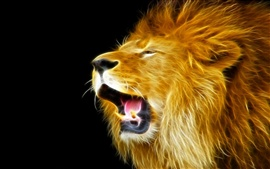 Preview wallpaper Creative lights design: Lion