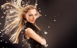 Fashion girl hair flying
