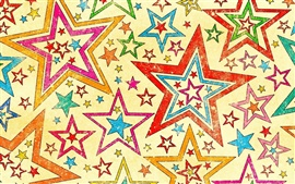 Five-pointed star abstract background