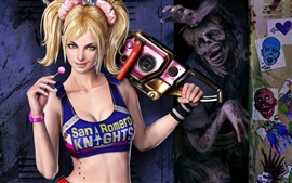 Preview wallpaper Girl lollipop chainsaw