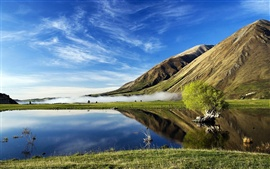 Aperçu fond d'écran Hills lac paysage