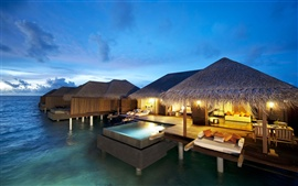Preview wallpaper Hotel Maldives Indian Ocean