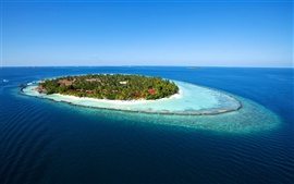 Preview wallpaper Maldives Paradise Island sea blue water