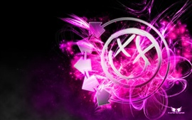 Preview wallpaper Music art purple style