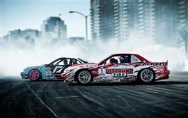 Fumaça esporte carros deriva