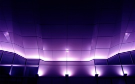 The layout of the purple light