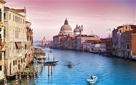 Preview wallpaper Venice Italy canal water city buildings