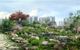 Preview wallpaper 3D landscape renderings