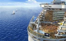 미리보기 배경 화면 3D 바다와 여객 배송