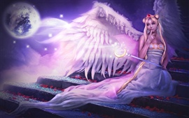Angel girl purple style