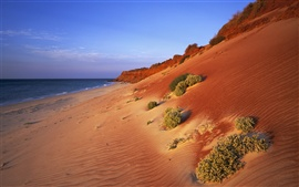 Australian scenery, red coast