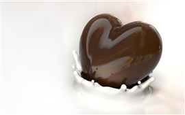 Preview wallpaper Chocolate milk heart