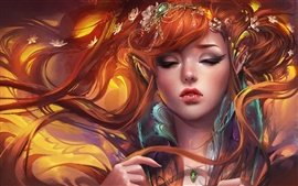 Preview wallpaper Fantasy elves girl