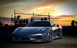 Preview wallpaper Ferrari at sunset