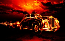 Fire car creative