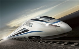 Preview wallpaper High-speed train renderings
